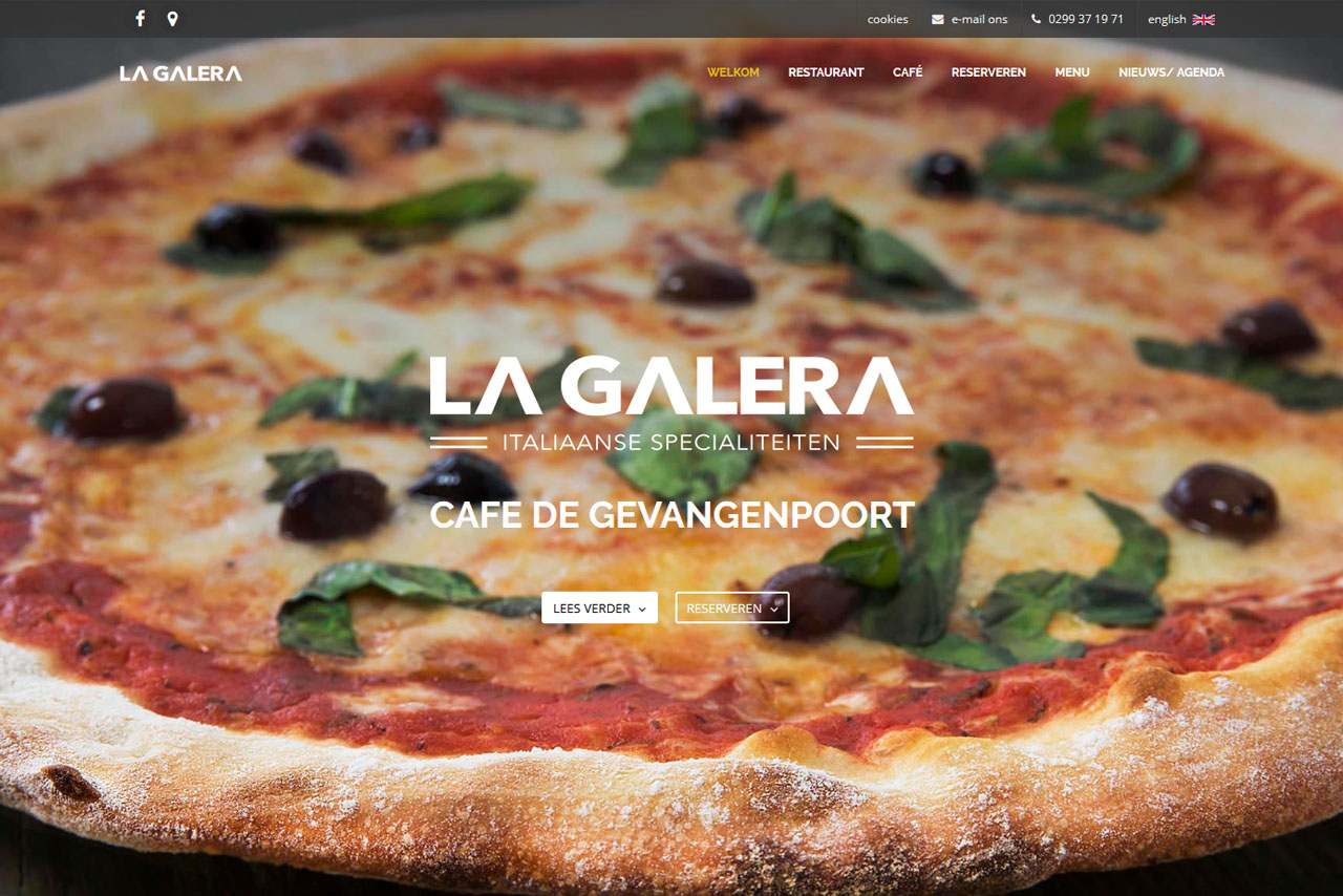 La Galera - Cafe de Gevangenpoort - Website